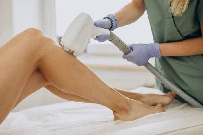 lady having laser removal